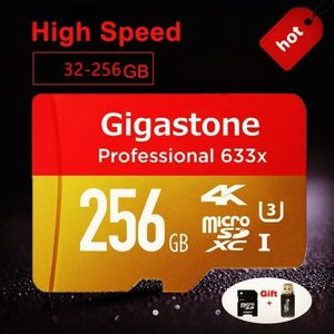 CARTE MÉMOIRE 256 Go Gigastone Flash Memory Card 633X Micro SD C