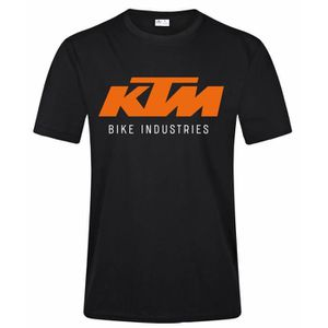 T-SHIRT Ktm Bike Industries Homme T Shirt Casual Haute qua