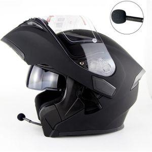 CASQUE MOTO SCOOTER Casque de moto Bluetooth Adulte Unisex casque moto