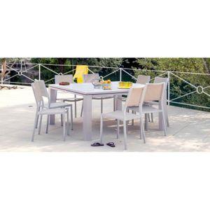 Table de jardin FIERO 200/300 (Ice) - Achat / Vente table de ...