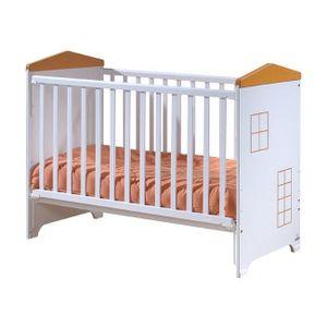 LIT BÉBÉ Lit bébé à barrière coulissante Little House  Blan