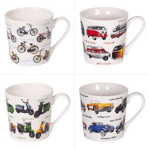 BOL Mug 40 cl Motor décors assortis (Lot de 4) NEURE N