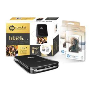 IMPRIMANTE HP Coffret Sprocket Plus Noire avec 2 packs de pap