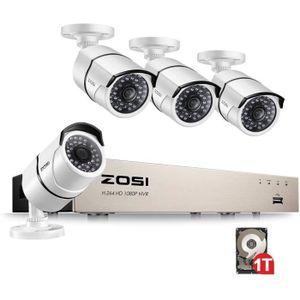 CAMÉRA DE SURVEILLANCE ZOSI PoE Kit Caméra Surveillance 2MP avec Enregist