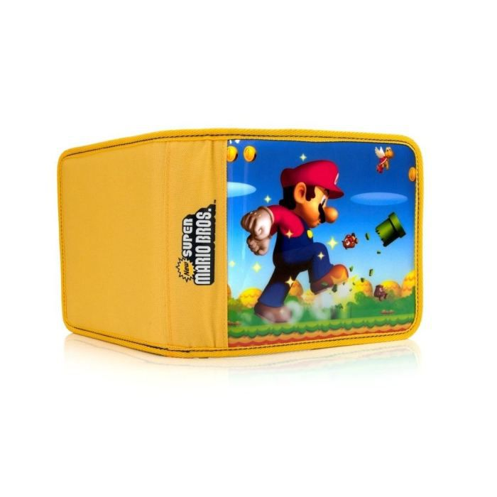 Pochette de transport super mario bros jaune 3ds achat for Housse 2ds mario