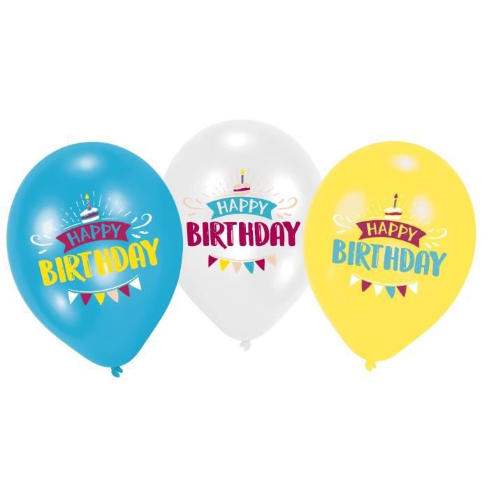 AMSCAN Lot de 6 Ballons imprimés My Birthday Party - 27,5 cm/11\