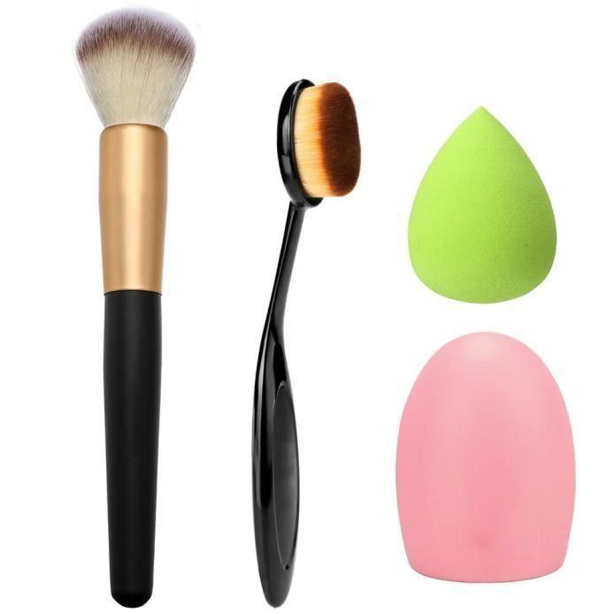 【Accessoires de nettoyage】4pcs pinceau de maquillage éponge de maquillage brosse de maquillage nettoyant fond de teint
