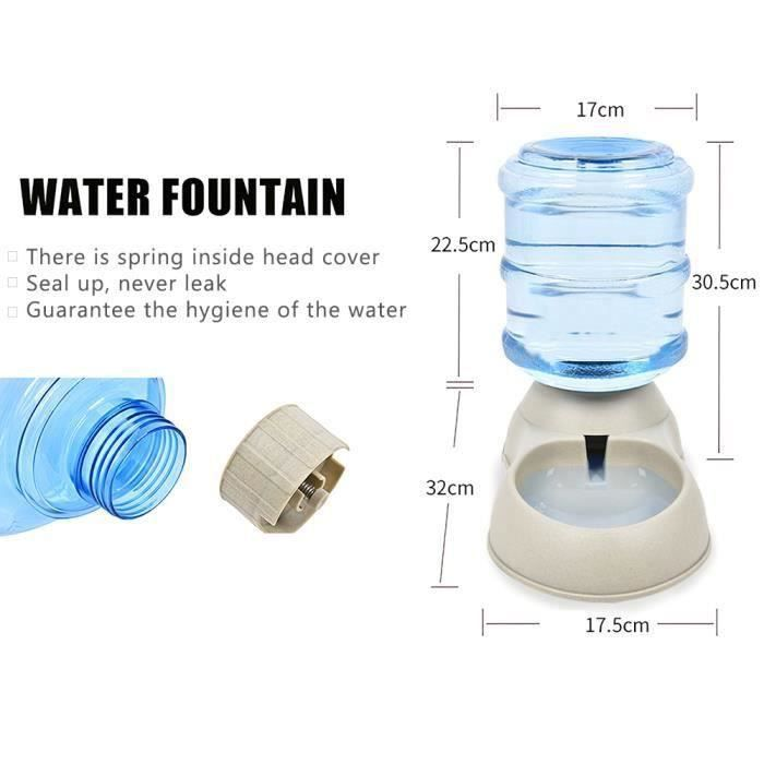 3.75L distributeur automatique d'eau de gravité chien chat chat boisson bol grande capacité distributeur d'eau pour chie-8_Regisi