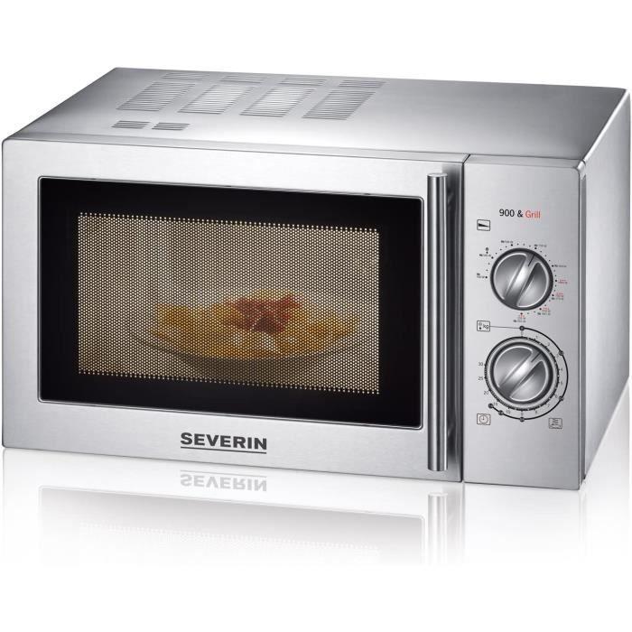 SEVERIN 7869 Four à Micro-Ondes, Inox Brossé, 22 L, 900 W