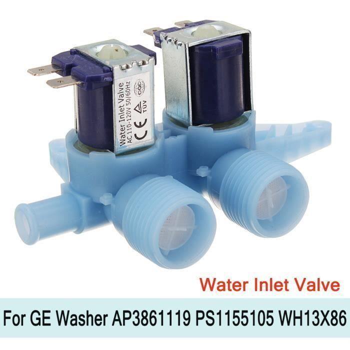 1x Valve d'alimentation d'eau Machine à Laver WH13X10024 Pr GE Washer AP3861119 PS1155105 WH13X86 Bo27123