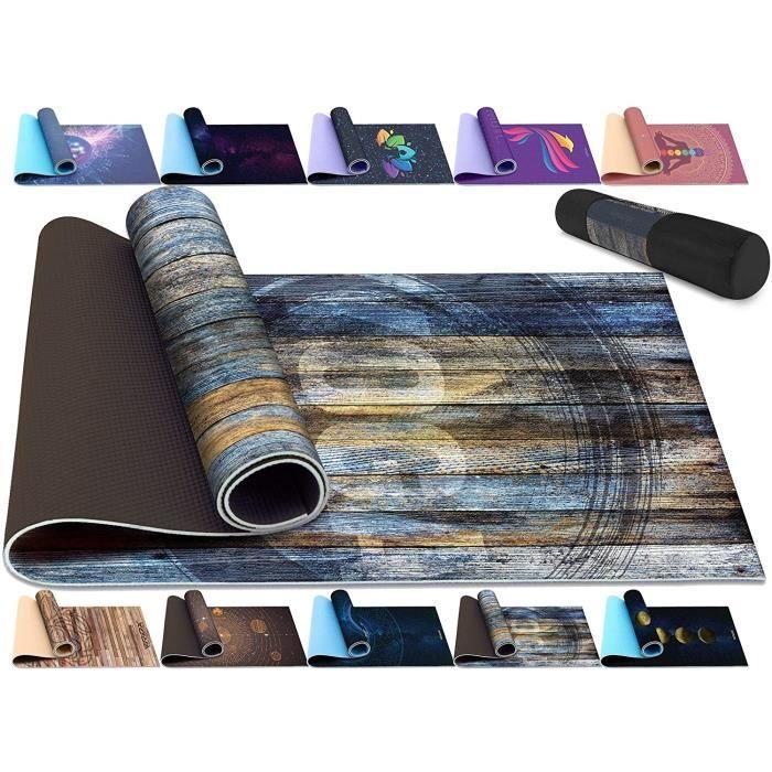 tapis RDX Tapis de Yoga 6mm Antid&eacuterapant Fitness Pilates Ecologique Sport au Sol Mat, 6P Reach RoHS Agr&eacute&eacute D170