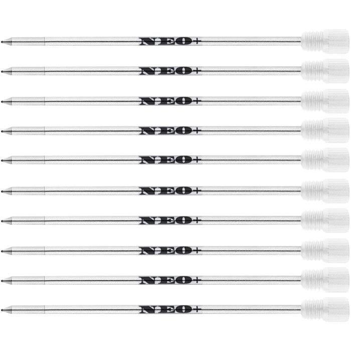 Recharges d'encre bleue ou noire pour stylos à billes Swarovski Element Cristal D1 par Neo + Bleu 10