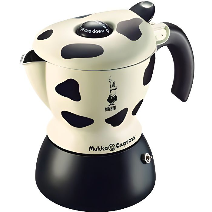 Bialetti - Mukka Express - 0103238 - Preparation Cappucino ou Cafe au lait - Coloris Vache - 3418