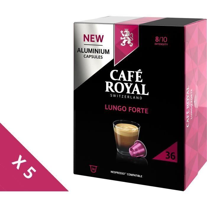 [Lot de 5] CAFE ROYAL Café compatible Nespresso Alu Lungo Forte x36