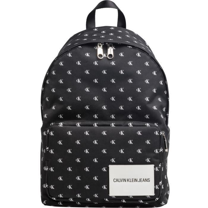Calvin Klein Sport Essential Mono CP Backpack Black - White [59667] - SAC A DOS
