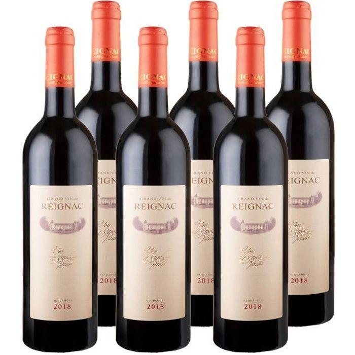 GRAND VIN DE REIGNAC 2018 - CHATEAU DE REIGNAC - LOT de 6 bouteilles de 75cl - vin rouge - AOC Bordeaux Supérieur