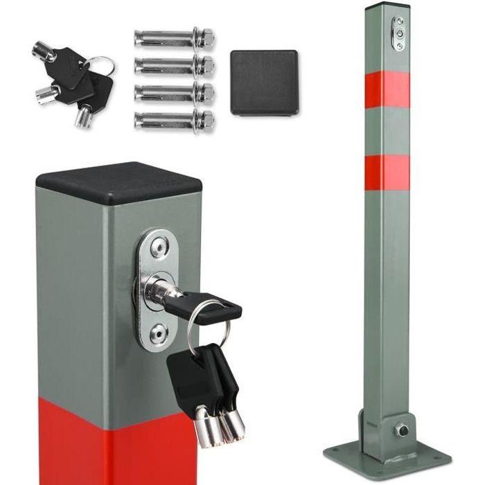 Poteau de stationnement, de parking, barrière de stationnement avec clés