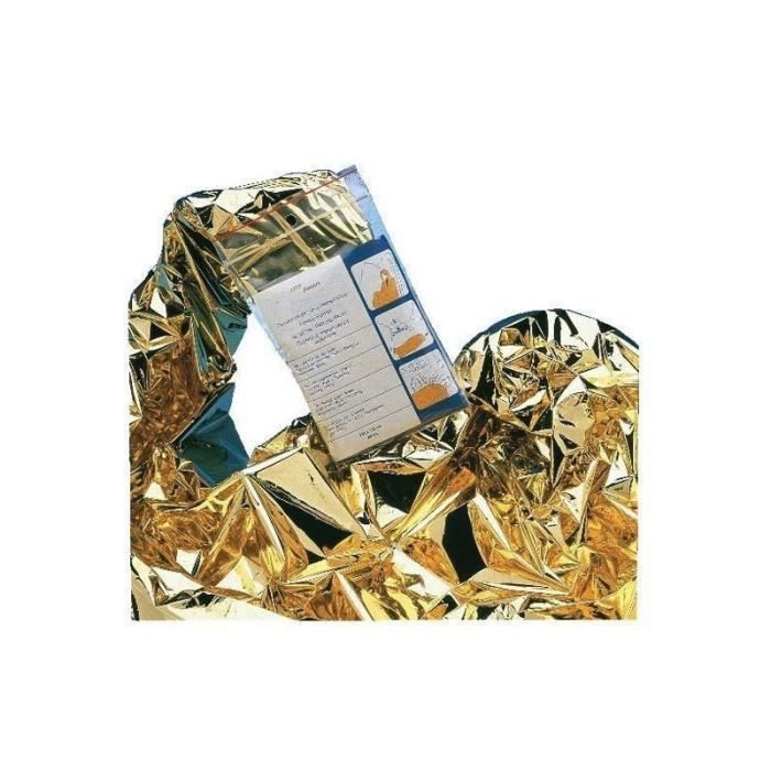 Couverture de survie 160x210mm ESCULAPE 8020101