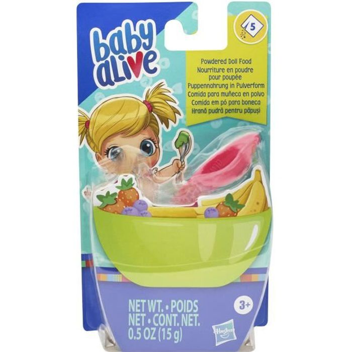 Baby Alive - Recharge de nourriture en poudre pour poupees et poupons