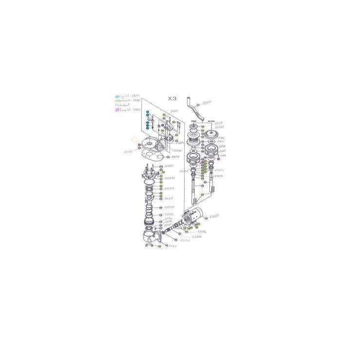 X3 - Pièces détachées pour guindeau LOFRANS' Pièce détachée n°631760 / #537