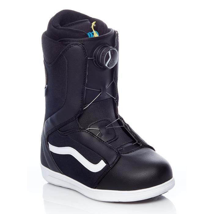 Boots Snowboard Femme Vans Encore Noir-Blanc