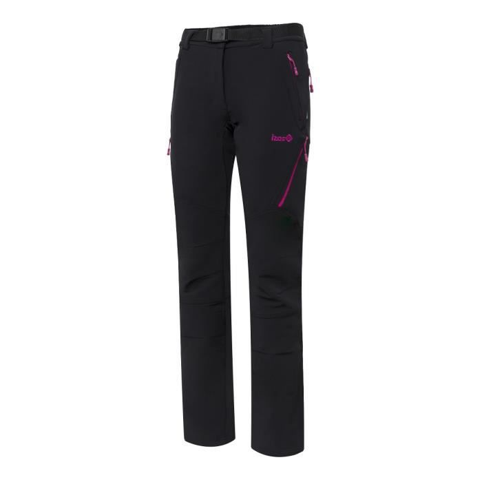 Pantalon de trekking Valluna Noir-Rose Taille XXL