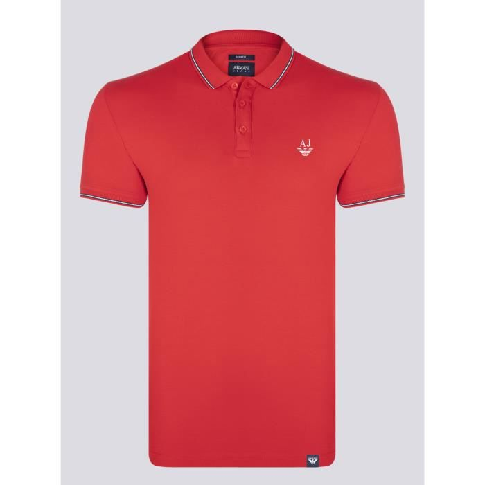 ARMANI JEANS Homme Polo Rouge Slim Fit