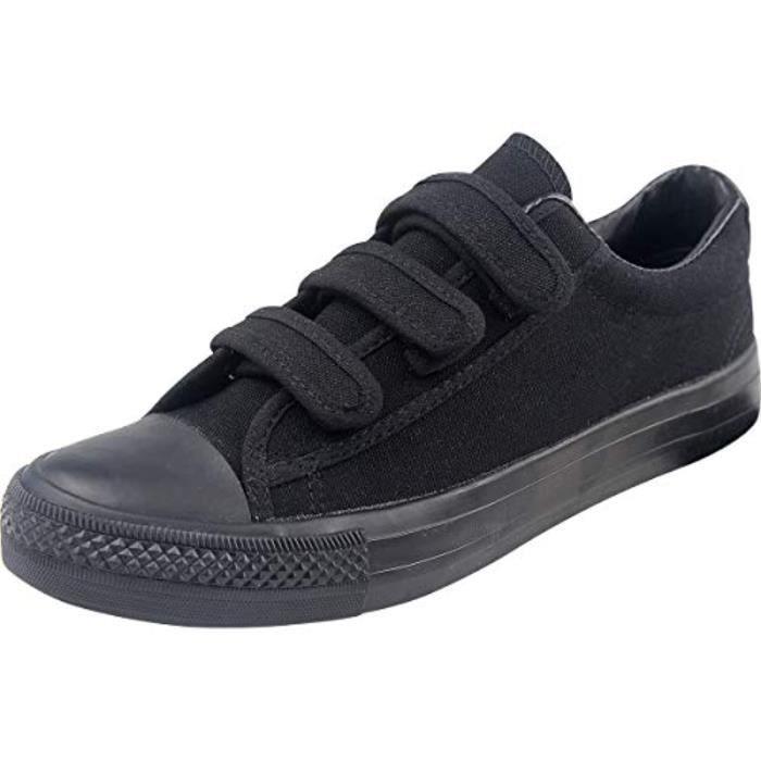 Sandale De Randonnee ASFVP Velcro toile chaussures décolletées Flat Top Plimsolls plimsoles Gym sport Formateurs Sneakers Casual Tai