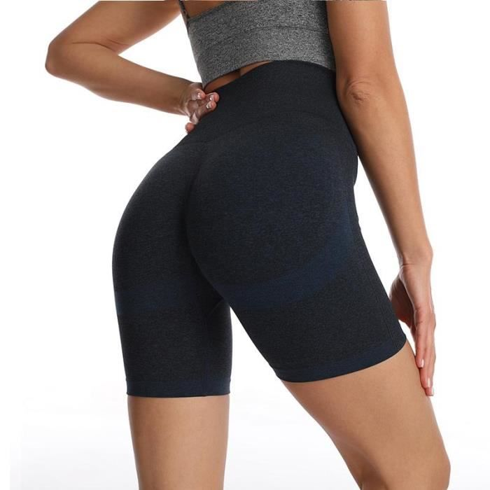 Short de Yoga Femme Taille Haute Sans Couture Respirant Short de Compression Pour Fitness Running