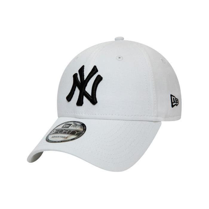 Casquette visière courbée New Era League Essential 9Forty New York Yankees Blanc