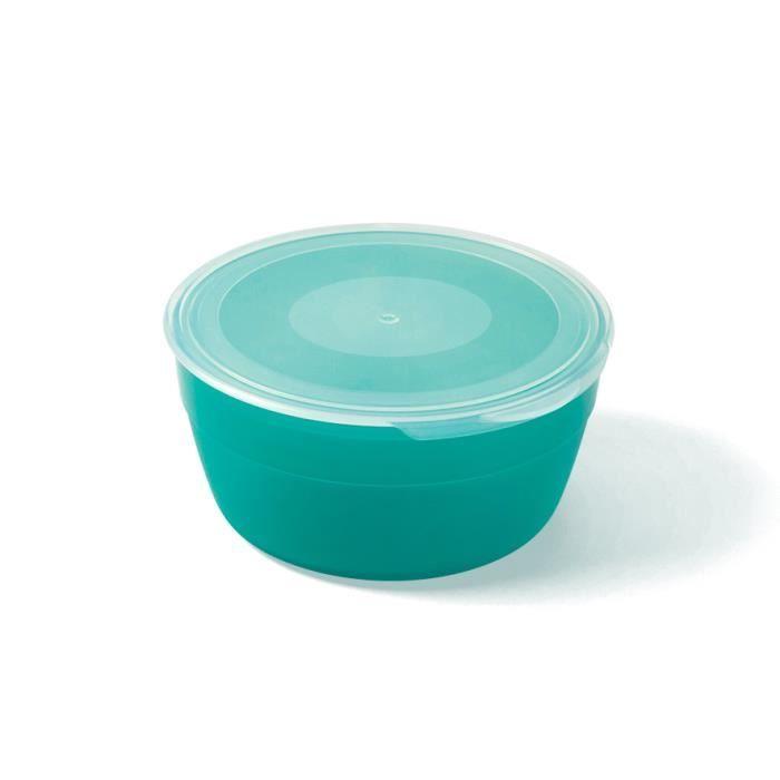 MILL'O BÉBÉ 1 lot de 3 boîtes de conservation micro-ondable 45 cl Polypropylène menthe