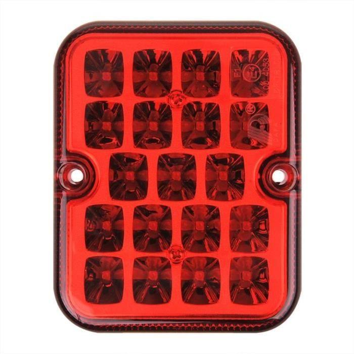 ProPlus feu antibrouillard arrière 12 Volt LED 10 x 8 cm rouge