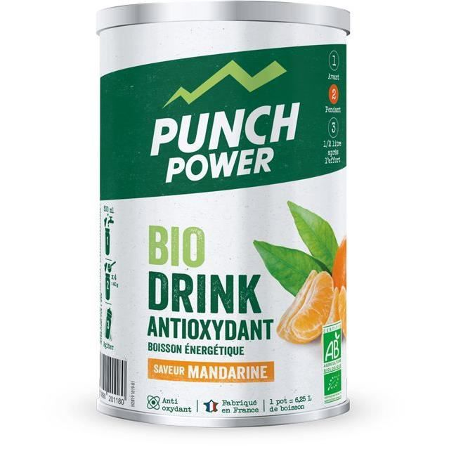 PUNCH POWER Biodrink Mandarine antioxydant - Pot 500 g