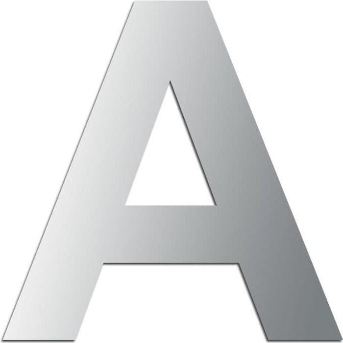 Miroir adhésif lettre A majuscule - 3,2 cm Matière : Miroir acrylique - Plastique réfléchissant Dimensions : 32 x 31 mm