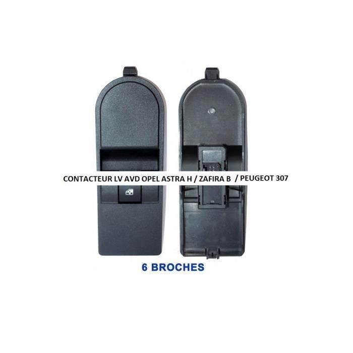 Contacteur bouton platine lève-vitres électrique avant droit, Peugeot 307