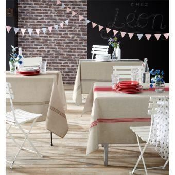 Nappe BISTROT Couleur Rouge Taille 150x250