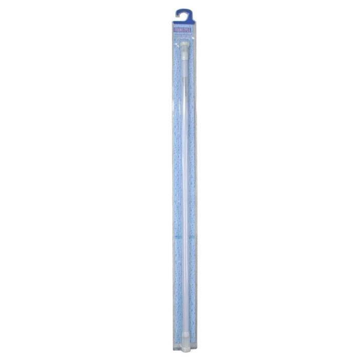 Barre de douche sans robinet - 110 à 180 cm - Blanc