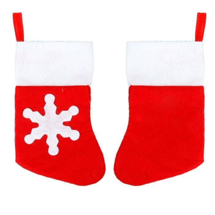 TRIXES Ensemble de 10 Porte-couverts Originaux Bas de Noël pour le Dîner de Noël