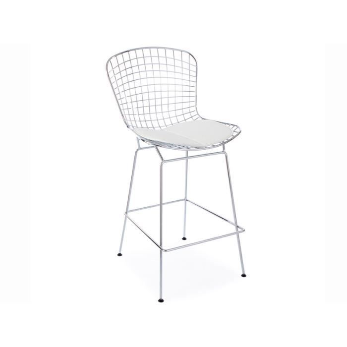 Chaise de bar bertoia wire achat vente tabouret for Achat chaise de bar
