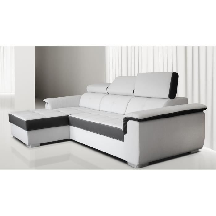 canap angle convertible aversa m ridienne gauche achat vente canap sofa divan bois. Black Bedroom Furniture Sets. Home Design Ideas