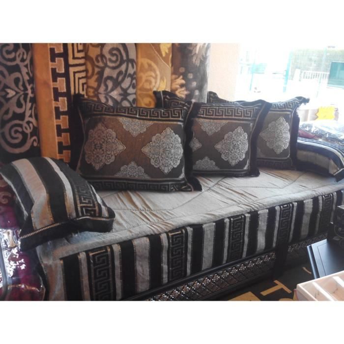 kit tissu salon marocain tlamet achat vente housse de canape cdiscount. Black Bedroom Furniture Sets. Home Design Ideas