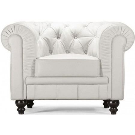 fauteuil chesterfield cuir blanc achat vente fauteuil. Black Bedroom Furniture Sets. Home Design Ideas