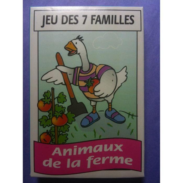 """Jeu de 42 Cartes 7 Familles /""""Marché/""""  Jeu de Carte France Carte"""