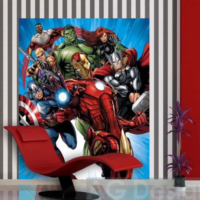 papier peint xl avengers marvel achat vente papier peint cdiscount. Black Bedroom Furniture Sets. Home Design Ideas