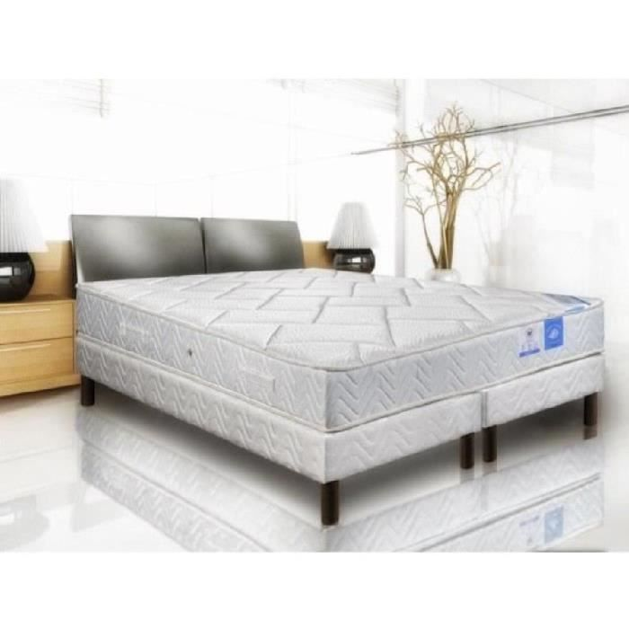 benoist belle literie ensemble matelas sommier 180x200cm 23cm 609 ressorts ensach s quilibr. Black Bedroom Furniture Sets. Home Design Ideas