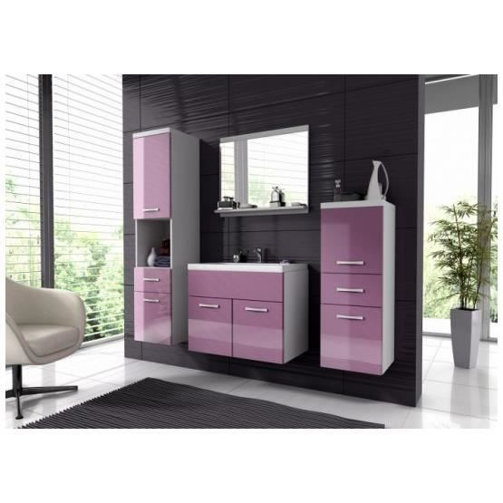 ensemble salle de bain baio violet et blanc achat vente salle de bain complete ensemble. Black Bedroom Furniture Sets. Home Design Ideas