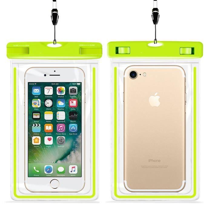 XZR Coque étanche Universelle Flottante étanche pour téléphone Portable iPhone XS Max/XR/X/8/8plus/7/7plus Samsung Galaxy S9/S9 /S8/S8 HTC LG Sony Nokia Motorola jusqu'à 65