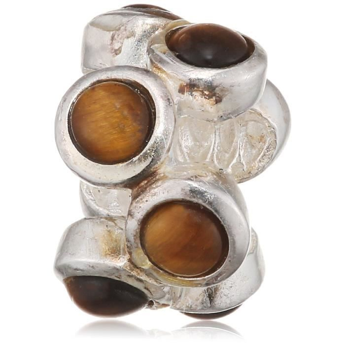 Lovelinks Femmes Argent 925 Bubble Brown perles de verre 1XOQ4Y