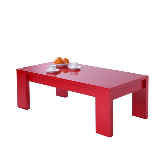 Table basse moderne rouge lilou achat vente table basse table basse lilou - Tables basses soldes ...