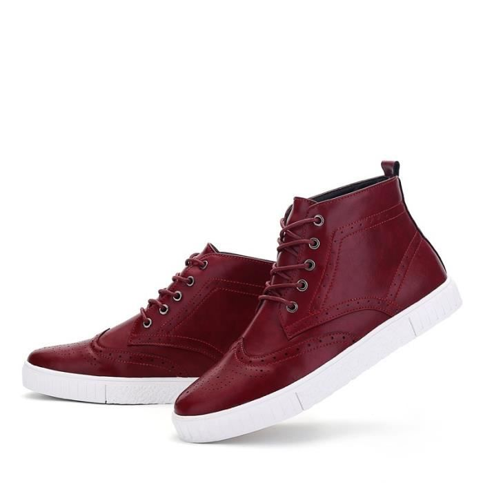 Botte Homme Casual Mocassins stretch antidérapanterouge taille41